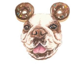 Dog with Donut ears clip art