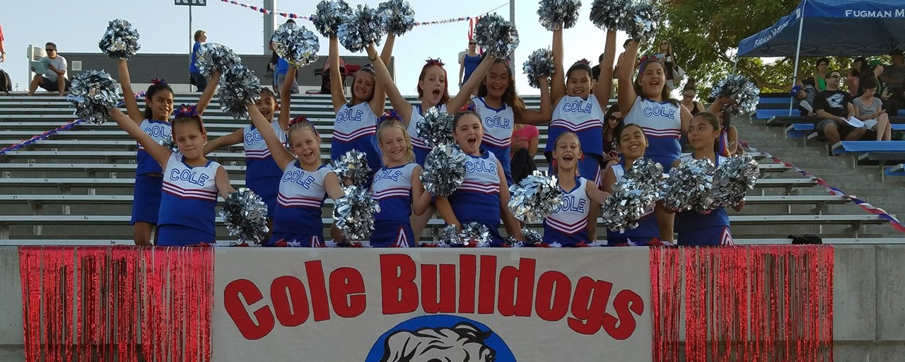 Cole Cheer Leaders at Football Carnival