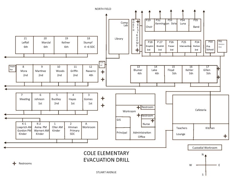 campus map of cole